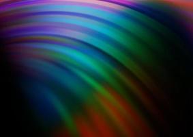 modelo de vetor de arco-íris multicolorido escuro com linhas dobradas.