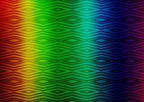 luz multicolorida, modelo de vetor de arco-íris com varas, quadrados.