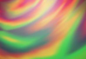 fundo de borrão colorido de vetor verde e vermelho claro.