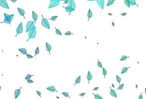 textura de doodle de vetor azul e verde claro.