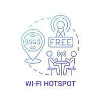 ícone de conceito de gradiente azul de ponto de acesso wi-fi vetor