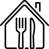 ícone de linha para restaurante vetor