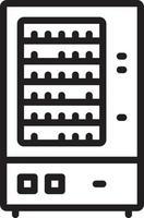 ícone de linha para máquina de venda automática vetor