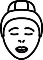 ícone de linha para pele vetor