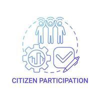 ícone de conceito de gradiente azul de participação cidadã vetor