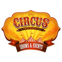 Banner de circo de carnaval com Big Top vetor