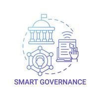 ícone de conceito de gradiente azul de governança inteligente vetor