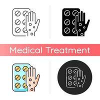 pílulas para ícone de alergia vetor
