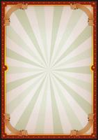Sinal de cartaz de circo em branco vintage vetor