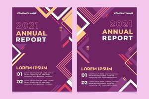 conjunto de modelo de relatório anual vetor