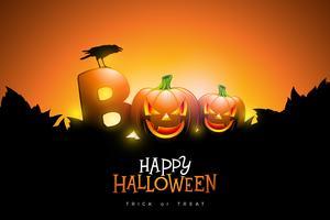 Boo, design feliz de Halloween