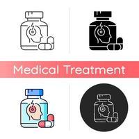 pílulas para ícone de dor de cabeça vetor