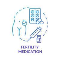 ícone de conceito azul de medicamento para fertilidade vetor
