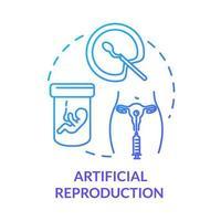 ícone de conceito azul de reprodução artificial vetor