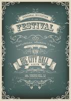 Poster de convite de Design vintage vetor