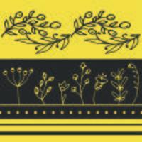 Vector floral horisontal sem costura padrão.