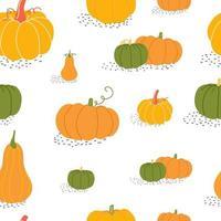 outono sem costura padrão com abóbora vetor