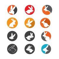 ilustração das imagens do logotipo do coelho vetor