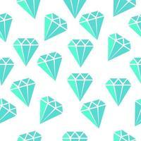 design de padrão sem emenda de diamante azul vetor
