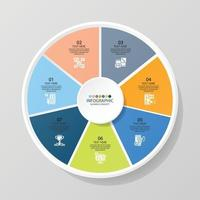 Infográfico de 7 etapas vetor