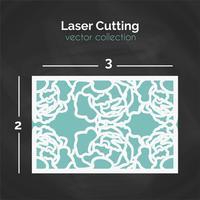 Modelo de corte a laser. Cartão Para O Corte. Ilustração de recorte vetor