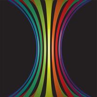 Linhas coloridas em 3d em fundo preto, ilustração vetorial vetor