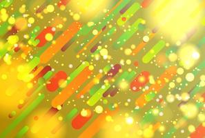 Abstrato colorido com bolas e linhas para publicidade, ilustração vetorial