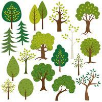 clipart de árvores vetor