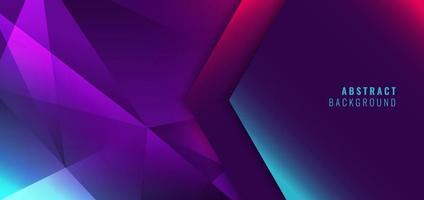 abstrato moderno azul, rosa, roxo fundo gradiente de baixo polígono vetor