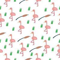 padrão sem emenda de vetor com flamingos. padrão para roupas, tecido