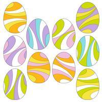 mod redemoinho ovos de páscoa vetor