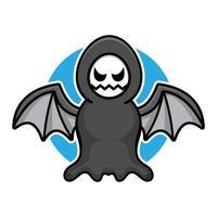 ilustração dos desenhos animados fofo ceifador. conceito de vetor de halloween.