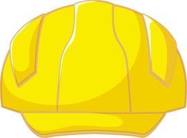 capacete de segurança amarelo isolado vetor