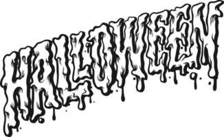 silhueta da tipografia de halloween vetor