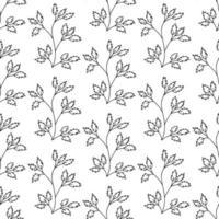 padrão floral sem emenda. isolado em fundo branco vetor