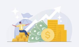 empresários financeiros de investimento aumentando o capital e os lucros. vetor