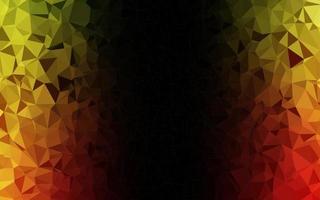 textura poligonal abstrata de vetor verde e vermelho claro.