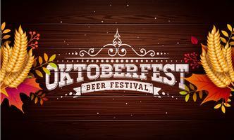 Ilustração de banner da Oktoberfest