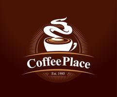 Logotipo do café vetor