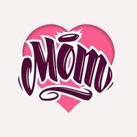 Mamãe tatuagem estilo Vector Lettering