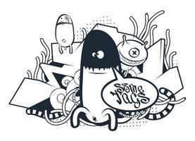Arte do Doodle dos grafittis
