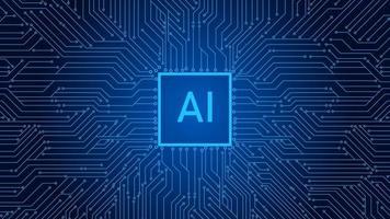 fundo de tecnologia azul com diagrama de circuito vetor
