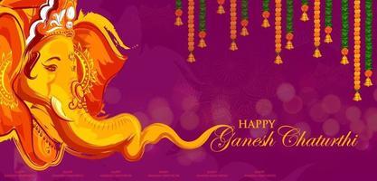 lord ganpati background para o festival ganesh chaturthi da índia vetor