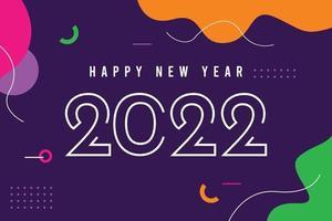 modelo de banner de feliz ano novo 2022. vetor