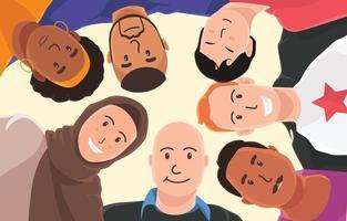 grupo de igualdade de pessoas multirraciais vetor