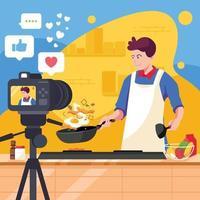 cozinhar ao vivo vetor