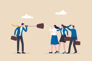 comunicação eficaz, mensagem clara e concisa vetor