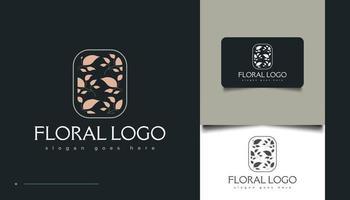 design de logotipo floral minimalista vetor