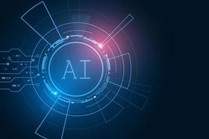 inteligência artificial, chipset IA na placa de circuito, futurista vetor