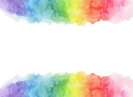 fundo do arco-íris aquarela com espaço para texto. vetor